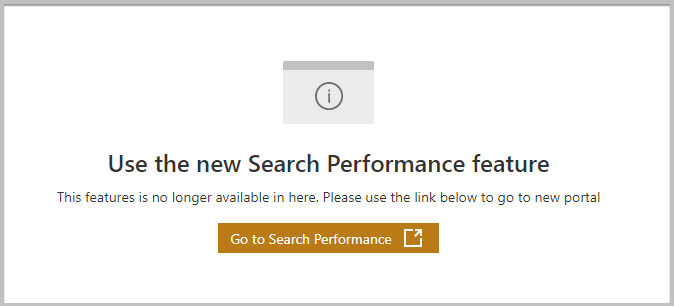 old search performance reports in bing webmaster