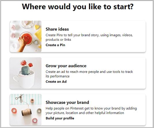 start a pinterest business profile