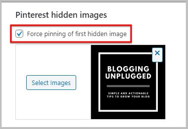 force pin images in WordPress using plugins