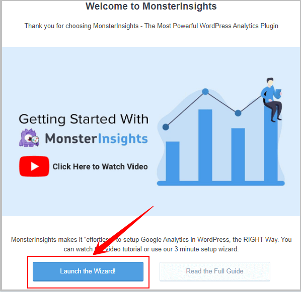 add google analytics in WordPress using monsterinsights