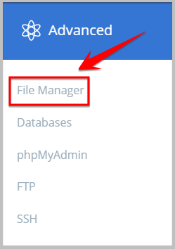 file manager in bluehost
