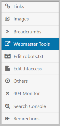 webmaster tools rank math
