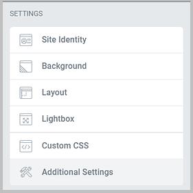 settings in elementor 3.0
