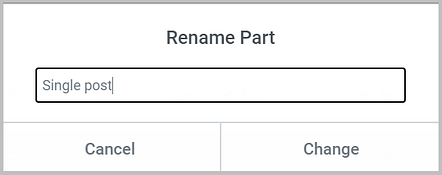 rename a template in elementor theme builder