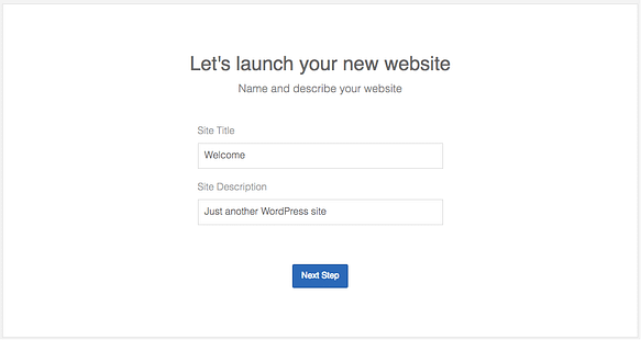 Enter title and description for your Blog
