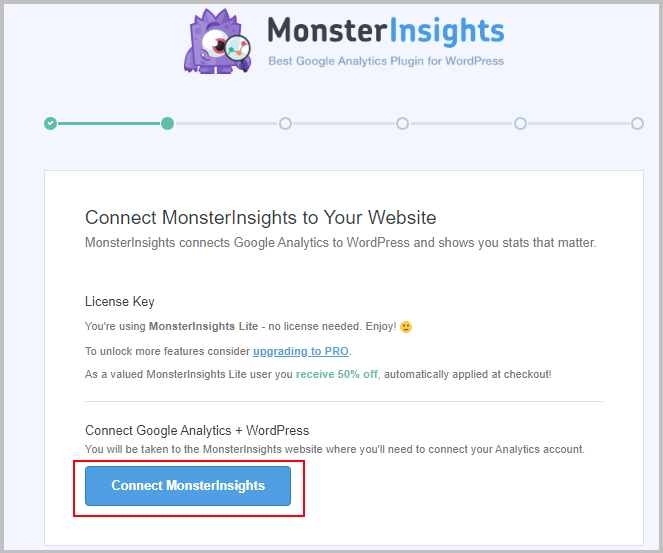 install google analytics using monsterinsights