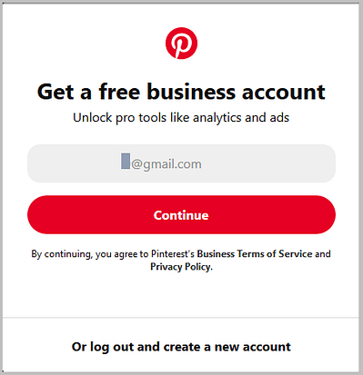 convert pinterest personal account to business