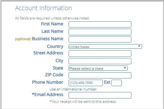 create an account on bluehost