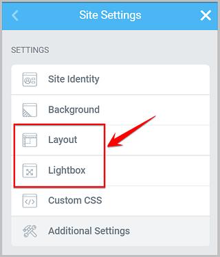 global settings in site settings