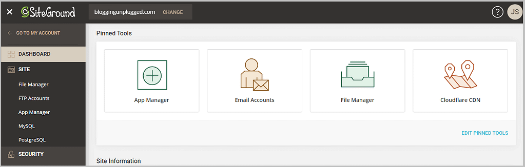 new user interface siteground