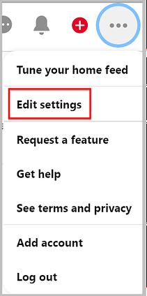 edit pinterest settings
