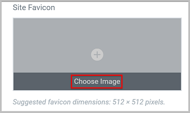 add site favicon using elementor