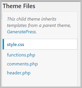theme files in WordPress