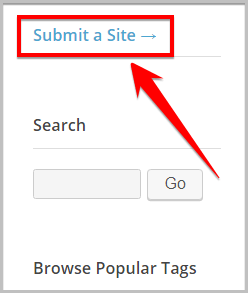 submit a website on wordpress.org