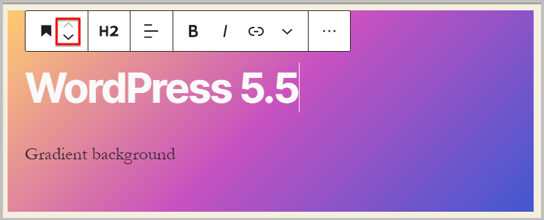 smooth drag and drop in WordPress 5.5