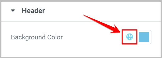 globe icon color change in elementor 3.0