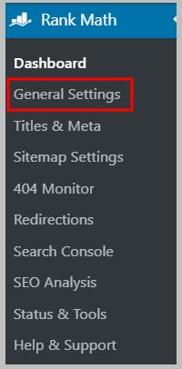 Rank Math General Settings