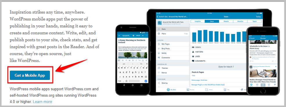 download wordpress mobile app