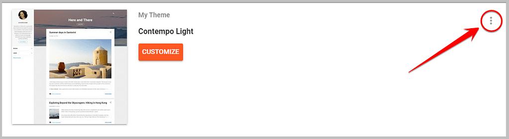 theme customization settings in blogspot