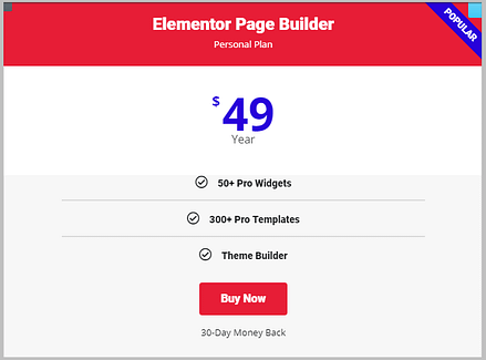 changing typography of pricing table using Global Fonts in Elementor