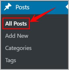 all posts in WordPress dashboard
