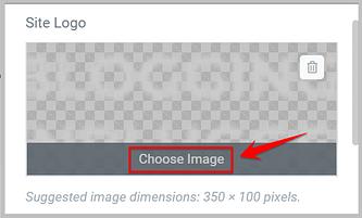 add site logo using elementor