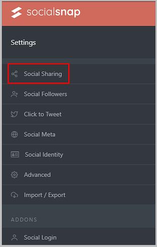 Social Snap Settings