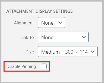 disable pinning using tasty pins in wordpress classic editor