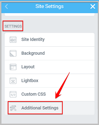additional settings in elementor 3.0