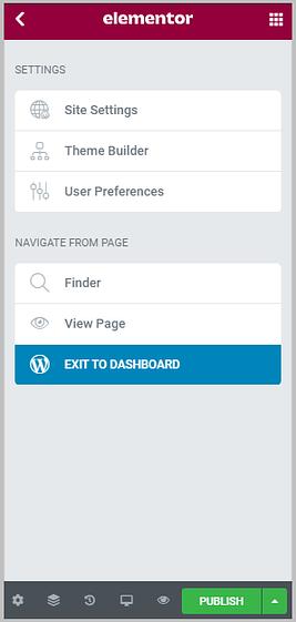 elementor configuration menu after elementor 3.0 update
